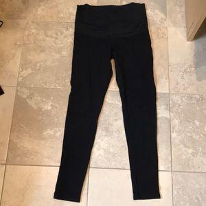 Maternal America Pants - Maternal America over belly black leggings